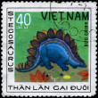 VIETNAM - CIRCA 1978 Stegosaurus — Stock Photo