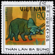 VIETNAM - CIRCA 1978 Triceratops — Stock Photo