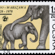 Royalty-Free Stock Photo: POLAND - CIRCA 1978 Elephants