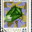 VIETNAM - CIRCA 1982 Green Bug - Stock Photo