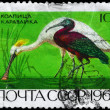 Stock Photo: USSR - CIRC1968 Spoonbill and Ibis