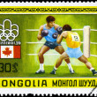MONGOLIA - CIRCA 1976 Boxing — Stock Photo