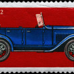 Постер, плакат: USSR CIRCA 1973 GAZ A Car
