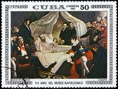 CUBA - CIRCA 1981 Death of Napoleon — Stock Photo