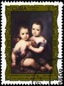 Kuba - circa 1986 två barn — Stockfoto