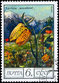 USSR - CIRCA 1976 Yellow Fritillary — Stock Photo