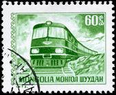 MONGOLIA - CIRCA 1973 Diesel Locomotive — Stock Photo