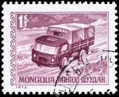 蒙古-大约 1973年卡车 — 图库照片