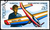 POLAND - CIRCA 1981 Model Airplane — Stock Photo
