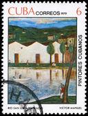 古巴-大约 1979年圣胡安河 — 图库照片