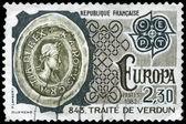 FRANCE - CIRCA 1982 Treaty of Verdun — Stock Photo