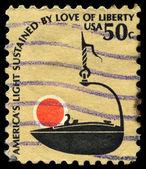 USA - CIRCA 1979 Iron Lamp — Stock Photo