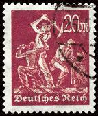 GERMANY - CIRCA 1923 Miners — Stock Photo
