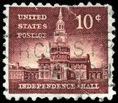 Usa - circa 1956 salón de la independencia — Foto de Stock