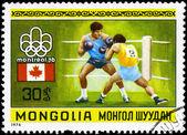MONGOLIA - CIRCA 1976 Boxing — Stock Photo