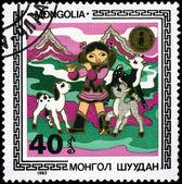 MONGOLIA - CIRCA 1983 Girl — Stock Photo