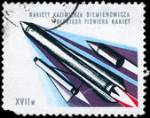 POLAND - CIRCA 1980 Multistage Rocket — Stock Photo