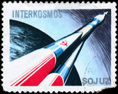 POLAND - CIRCA 1980 Intercosmos — Stock Photo