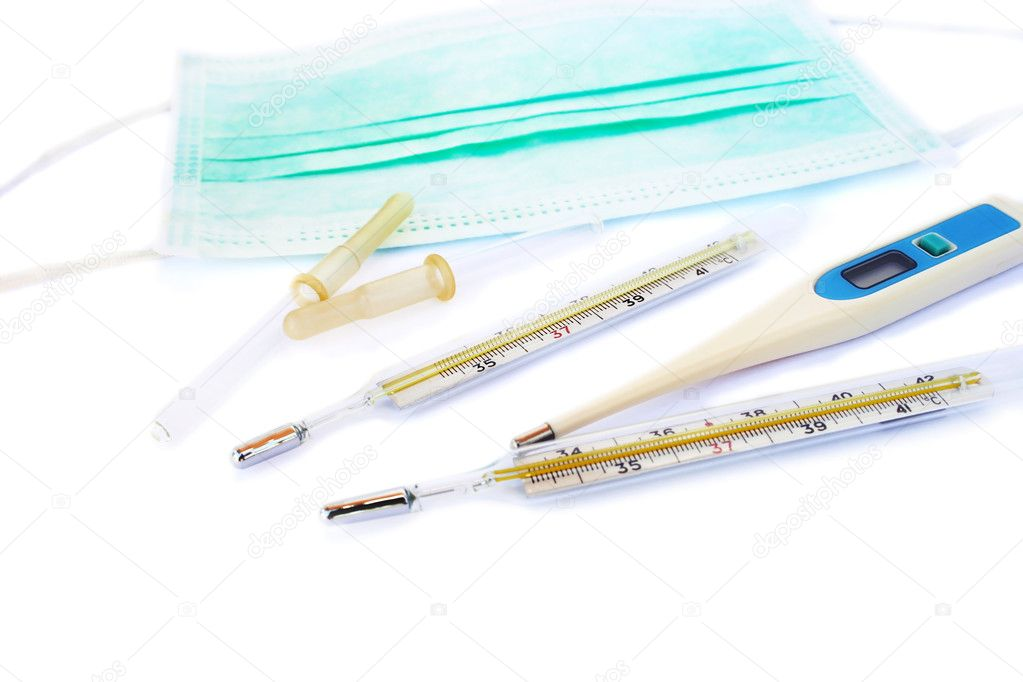 Medical items isolated on white background. — Stock Photo #5661115