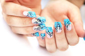 Hands with nail art — ストック写真
