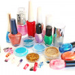 Stock Photo: Nail polishes and glitters