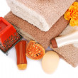 Towels and spa set - Stock Photo