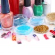 Nail polishes and glitters — Stok Fotoğraf #6205937