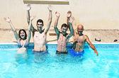 In swimming pool — Stock Photo