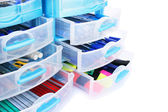 Stationery drawers — Stock Photo