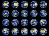 Kolekcja globy ziemi — Zdjęcie stockowe