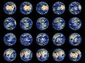 Raccolta di globi di terra — Foto Stock