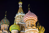 St Basil's Cathedral at nighttime — Stock Photo