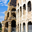 Wall of Roman Colosseum - Stock Photo