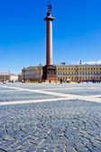 在圣彼得堡宫殿广场 — 图库照片