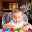 A boy and colorful blocks - Photo