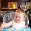 Little boy investigating pasta — Stock Photo #6012731