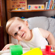 A boy and colorful blocks — Stock Photo #6012938