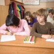 Cheating  in school — Foto Stock