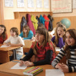 School life routine - Stock Photo