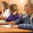 Diligent pupils — Stock Photo