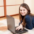 Young girl with laptop — Stock Photo #6019072