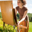 Open air painting — Stock Photo #6448907