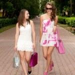 Shopping girls — Stock Photo #6449237