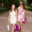 Shopping girls — Stock Photo