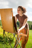 Open air painting — Stock Photo