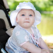 baby in stroller — Stock Photo