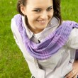 Girl in scarf — Stock Photo