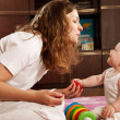 Mother playing with baby — Stock Photo #6450424
