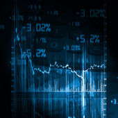 Stock market chart — Stock Photo