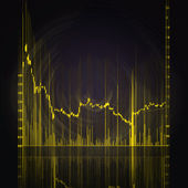 Stock market chart — Стоковое фото